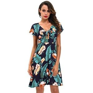 Love Of My Life Blue Floral Print Tunic Dress